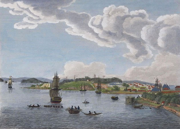 Port of Sydney, by Charles-Alexandre Lesueur